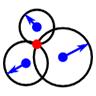 Schnittpunkte von drei Kreisen