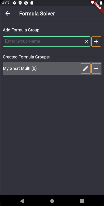 Add Formula Group