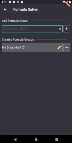 Erstelle Formelgruppe