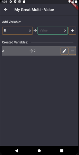 Variablen/Werte eingeben