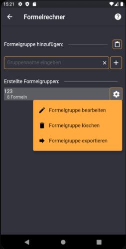 Formelgruppen exportieren